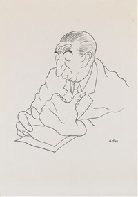 portrait of antonín pelc (portrét a. pelce) by adolf hoffmeister