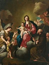 sant antonio di padova che adora la madonna con il bambino by giuseppe (tomasuoli) tomajuoli