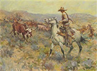 cattle drive west by frank b. hoffman