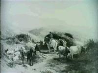 veduta delle paludi pontine da velletri by charles h. poingdestre