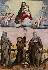 thronende madonna mit dem kind