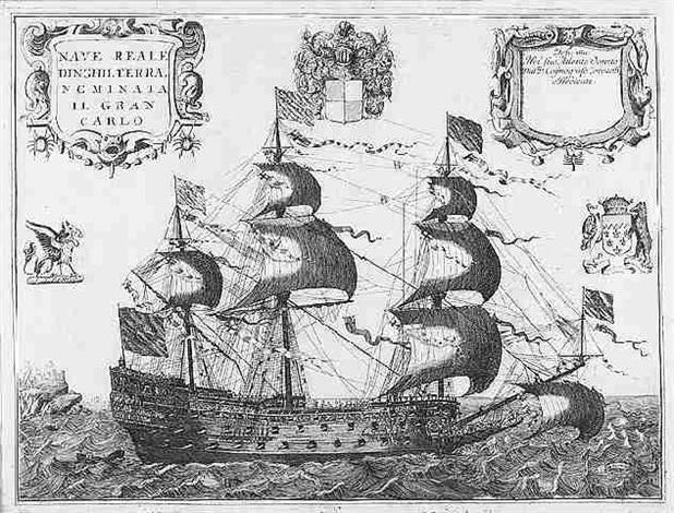 nave reale dinghilterra nominata il gran carlo by vincenzo maria coronelli