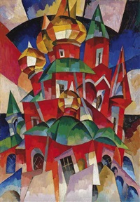 the red church by aristarkh vasilevich lentulov