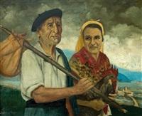campesinos by julian de aldeocoa y arano