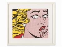 crying girl by roy lichtenstein