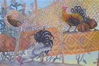 chickens and roosters by donald green