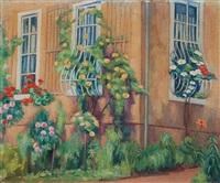 rosen und clematis (an der hausecke) by karl kröner