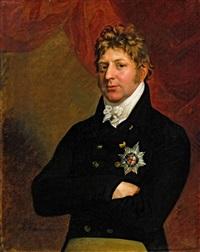 porträt eines herrn mit hosenbandorden (adolph friedrich herzog von cambridge, vizekönig von hannover?) by george dawe