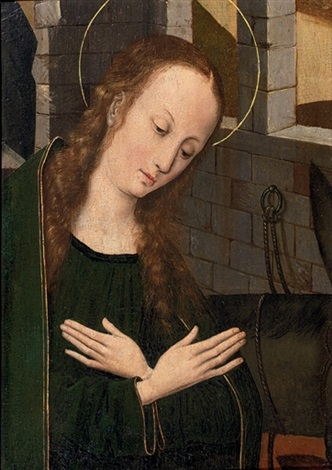 the virgin at prayer by hans memling