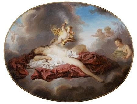 vénus et cupidon sur un nuage by pierre nicolas legrand de lérant