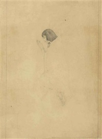 untitled (perparatory drawing of sati) by nandalal bose