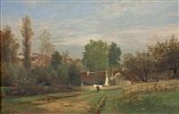 paysage de campagne by auguste allongé