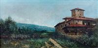 maison devant un chemin en espagne by manuel ramos artal