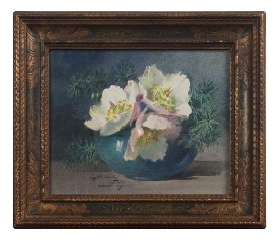 Vase De Roses De Noel By Blanche Odin On Artnet