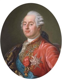 king louis xvi of france wearing the order of the golden fleece, the order of saint esprit and the order of saint louis by joseph boze