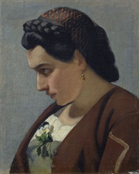 donna innamorata by giuseppe abbati