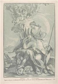 diana und endymion (after sebastiano conca) by nicolas le sueur