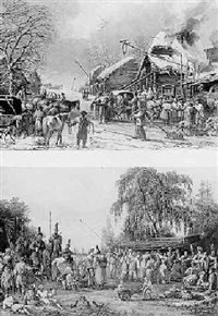 the cossack village: winter and summer by charles santoire de varenne