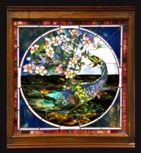 fish pattern window by john la farge