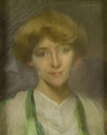 jeune femme rousse by edmond françois aman jean