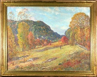 autumn landscape by c. harry allis