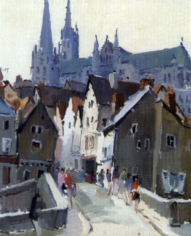vue de chartres by paul jean anderbouhr