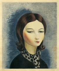 portrait of a brunette by moïse kisling