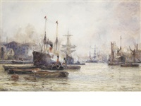 limehouse reach, london by frederick william scarborough
