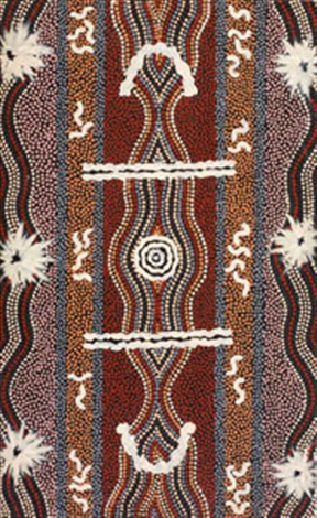 caterpillar dreaming by clifford possum tjapaltjarri