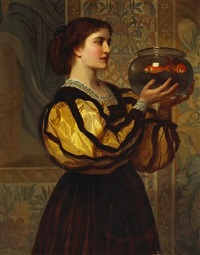 the goldfish bowl by charles edward perugini