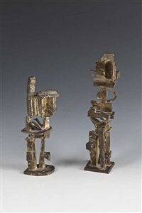 manderine and companion (2 works) by dorothy dehner