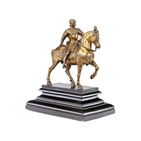 model of the equestrian monument to bartolomeo colleoni by andrea del verrocchio