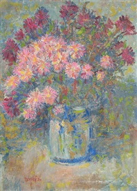 blumen in vase by joseph futterer