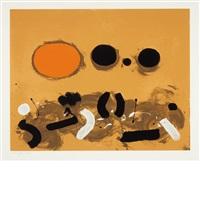 orange oval by adolph gottlieb