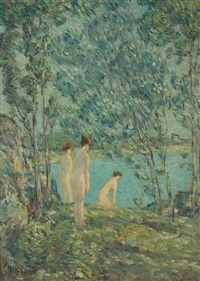 the bathers by childe hassam