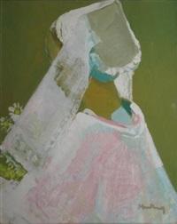 la jeune bretonne au bouquet de marguerites by andré mériel-bussy