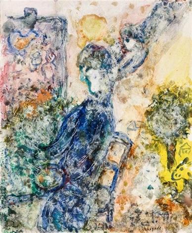 la peintre à la palette by marc chagall
