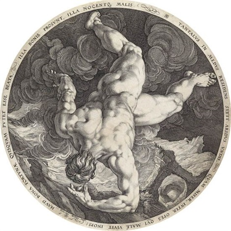 the fall of tantalus by hendrik goltzius