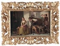 scene di genere (pair) by niccolo (nicola) sanesi