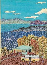 towada lake by kiyoshi yamashita