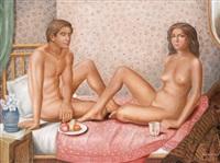 seated couple by theodoros manolidis