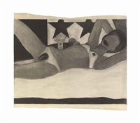 drawing for great american nude # 56 by tom wesselmann