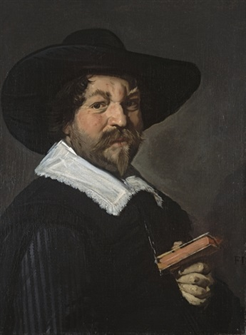 portrait dhomme tenant un livre by frans hals the elder