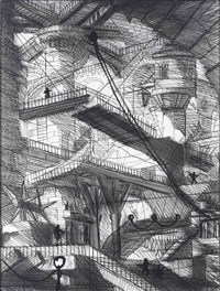 carcere ii, after piranesi, the drawbridge by vik muniz