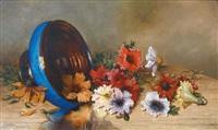 coupe de fleurs renversée by g. augizeau