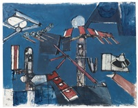 untitled (composition r33) by roberto matta