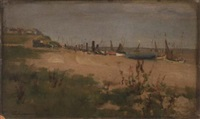 southwold beach by william samuel henry (sir) llewellyn