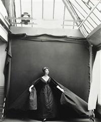 suzy parker (evening dress by dior), paris studio, august by richard avedon