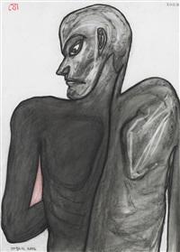 dark man from back by jogen chowdhury
