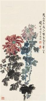 菊图 立轴 设色纸本 by qian songyan